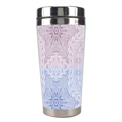 Seamless Kaleidoscope Patterns In Different Colors Based On Real Knitting Pattern Stainless Steel Travel Tumblers