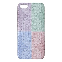 Seamless Kaleidoscope Patterns In Different Colors Based On Real Knitting Pattern iPhone 5S/ SE Premium Hardshell Case