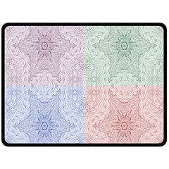 Seamless Kaleidoscope Patterns In Different Colors Based On Real Knitting Pattern Double Sided Fleece Blanket (large)