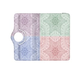 Seamless Kaleidoscope Patterns In Different Colors Based On Real Knitting Pattern Kindle Fire HDX 8.9  Flip 360 Case