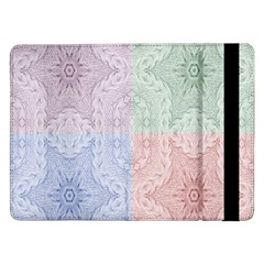 Seamless Kaleidoscope Patterns In Different Colors Based On Real Knitting Pattern Samsung Galaxy Tab Pro 12 2  Flip Case