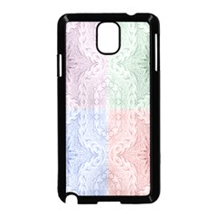 Seamless Kaleidoscope Patterns In Different Colors Based On Real Knitting Pattern Samsung Galaxy Note 3 Neo Hardshell Case (black)