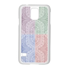 Seamless Kaleidoscope Patterns In Different Colors Based On Real Knitting Pattern Samsung Galaxy S5 Case (white)