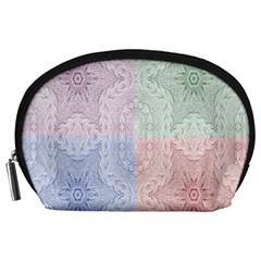 Seamless Kaleidoscope Patterns In Different Colors Based On Real Knitting Pattern Accessory Pouches (Large)
