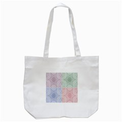 Seamless Kaleidoscope Patterns In Different Colors Based On Real Knitting Pattern Tote Bag (white)