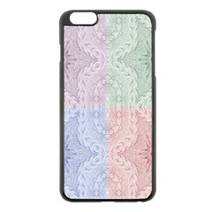 Seamless Kaleidoscope Patterns In Different Colors Based On Real Knitting Pattern Apple Iphone 6 Plus/6s Plus Black Enamel Case