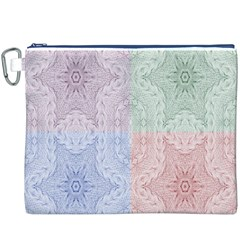 Seamless Kaleidoscope Patterns In Different Colors Based On Real Knitting Pattern Canvas Cosmetic Bag (XXXL)