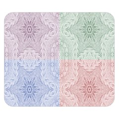 Seamless Kaleidoscope Patterns In Different Colors Based On Real Knitting Pattern Double Sided Flano Blanket (Small)