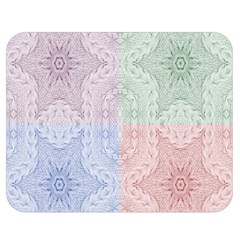 Seamless Kaleidoscope Patterns In Different Colors Based On Real Knitting Pattern Double Sided Flano Blanket (medium)