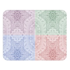 Seamless Kaleidoscope Patterns In Different Colors Based On Real Knitting Pattern Double Sided Flano Blanket (large)