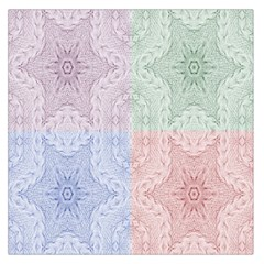 Seamless Kaleidoscope Patterns In Different Colors Based On Real Knitting Pattern Large Satin Scarf (Square)