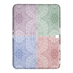 Seamless Kaleidoscope Patterns In Different Colors Based On Real Knitting Pattern Samsung Galaxy Tab 4 (10 1 ) Hardshell Case