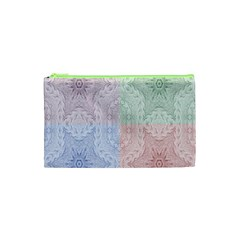 Seamless Kaleidoscope Patterns In Different Colors Based On Real Knitting Pattern Cosmetic Bag (xs)