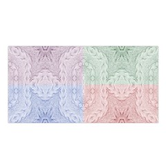 Seamless Kaleidoscope Patterns In Different Colors Based On Real Knitting Pattern Satin Shawl
