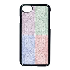 Seamless Kaleidoscope Patterns In Different Colors Based On Real Knitting Pattern Apple Iphone 7 Seamless Case (black)
