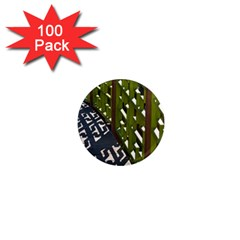 Shadow Reflections Casting From Japanese Garden Fence 1  Mini Magnets (100 pack)