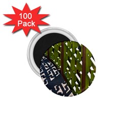Shadow Reflections Casting From Japanese Garden Fence 1.75  Magnets (100 pack)