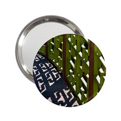 Shadow Reflections Casting From Japanese Garden Fence 2 25  Handbag Mirrors