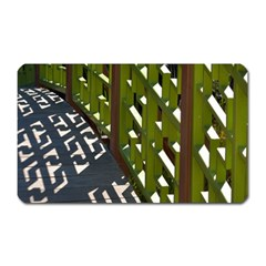 Shadow Reflections Casting From Japanese Garden Fence Magnet (rectangular)