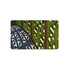 Shadow Reflections Casting From Japanese Garden Fence Magnet (name Card)
