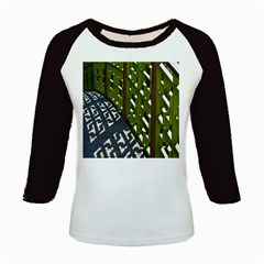 Shadow Reflections Casting From Japanese Garden Fence Kids Baseball Jerseys