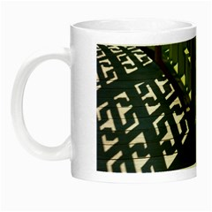 Shadow Reflections Casting From Japanese Garden Fence Night Luminous Mugs