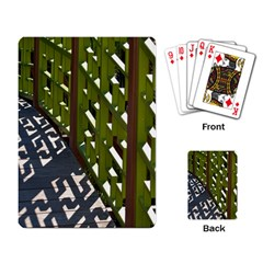 Shadow Reflections Casting From Japanese Garden Fence Playing Card