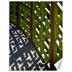 Shadow Reflections Casting From Japanese Garden Fence Canvas 18  x 24
