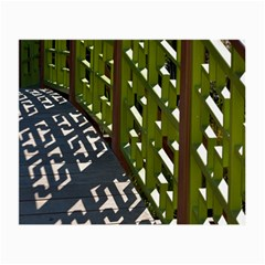 Shadow Reflections Casting From Japanese Garden Fence Small Glasses Cloth (2 Side)
