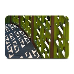 Shadow Reflections Casting From Japanese Garden Fence Plate Mats