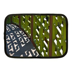 Shadow Reflections Casting From Japanese Garden Fence Netbook Case (medium)