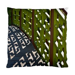 Shadow Reflections Casting From Japanese Garden Fence Standard Cushion Case (Two Sides)