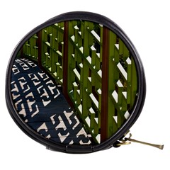 Shadow Reflections Casting From Japanese Garden Fence Mini Makeup Bags