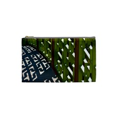 Shadow Reflections Casting From Japanese Garden Fence Cosmetic Bag (Small)