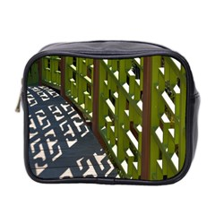 Shadow Reflections Casting From Japanese Garden Fence Mini Toiletries Bag 2 Side