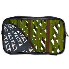 Shadow Reflections Casting From Japanese Garden Fence Toiletries Bags 2-Side
