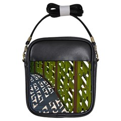 Shadow Reflections Casting From Japanese Garden Fence Girls Sling Bags