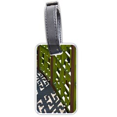 Shadow Reflections Casting From Japanese Garden Fence Luggage Tags (One Side)