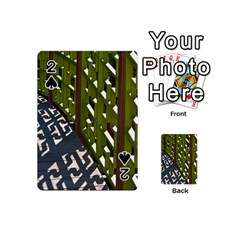 Shadow Reflections Casting From Japanese Garden Fence Playing Cards 54 (Mini)