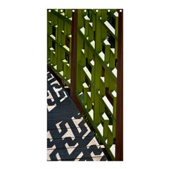 Shadow Reflections Casting From Japanese Garden Fence Shower Curtain 36  X 72  (stall)