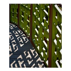 Shadow Reflections Casting From Japanese Garden Fence Shower Curtain 60  X 72  (medium)