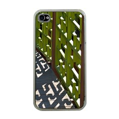 Shadow Reflections Casting From Japanese Garden Fence Apple iPhone 4 Case (Clear)