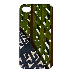Shadow Reflections Casting From Japanese Garden Fence Apple iPhone 4/4S Hardshell Case