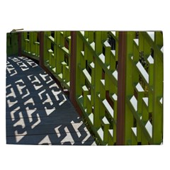 Shadow Reflections Casting From Japanese Garden Fence Cosmetic Bag (XXL)