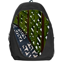 Shadow Reflections Casting From Japanese Garden Fence Backpack Bag
