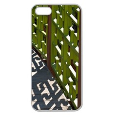 Shadow Reflections Casting From Japanese Garden Fence Apple Seamless iPhone 5 Case (Clear)