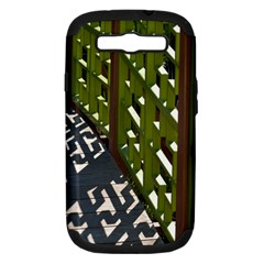 Shadow Reflections Casting From Japanese Garden Fence Samsung Galaxy S Iii Hardshell Case (pc+silicone)
