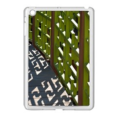 Shadow Reflections Casting From Japanese Garden Fence Apple Ipad Mini Case (white)