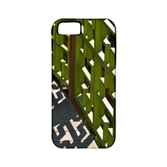 Shadow Reflections Casting From Japanese Garden Fence Apple iPhone 5 Classic Hardshell Case (PC+Silicone)