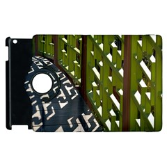 Shadow Reflections Casting From Japanese Garden Fence Apple Ipad 3/4 Flip 360 Case